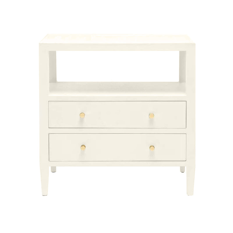 Yvonne Nightstand Double - White