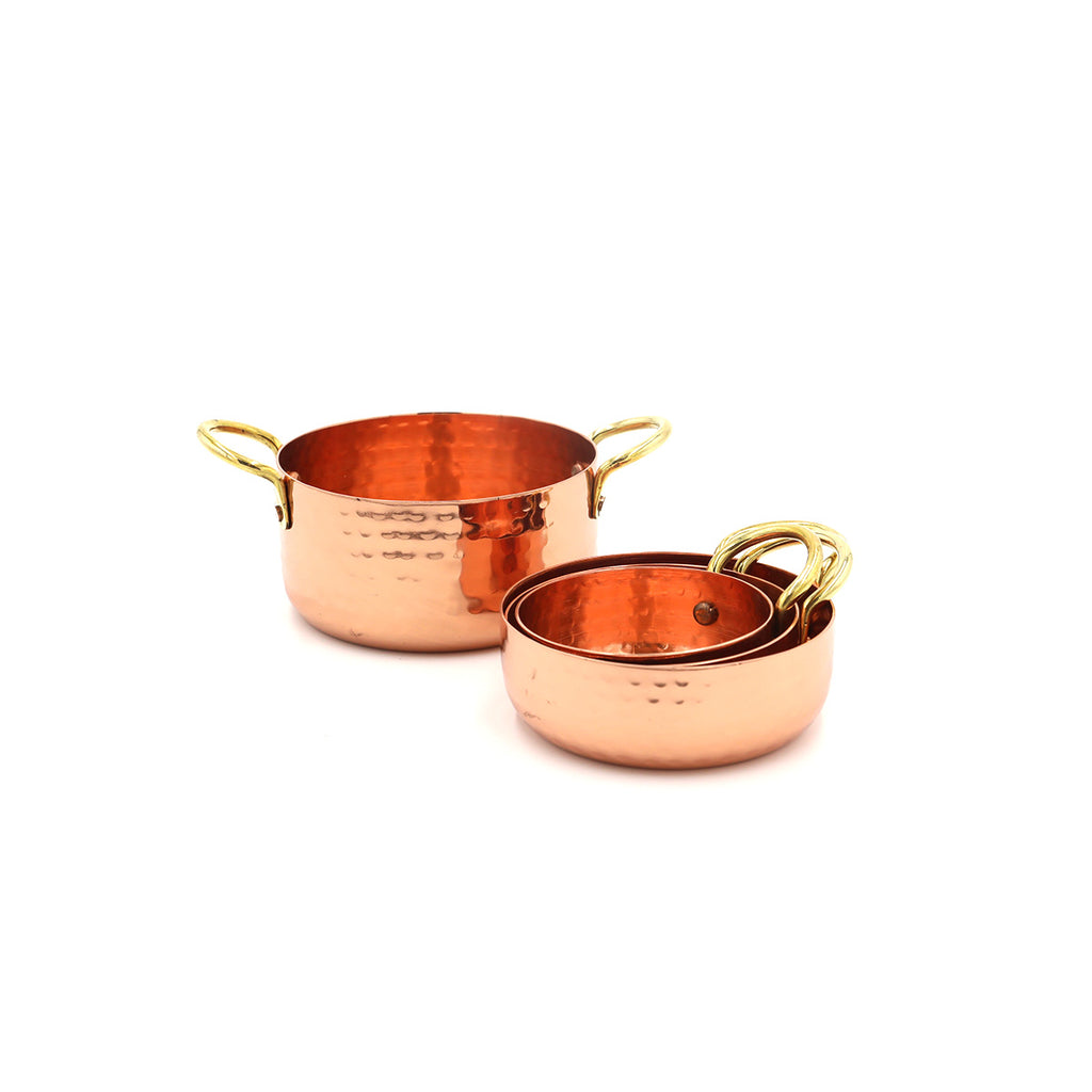 Copper and Gold Measuring Cups