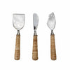 Dark Wood & Marble Salad Server Set