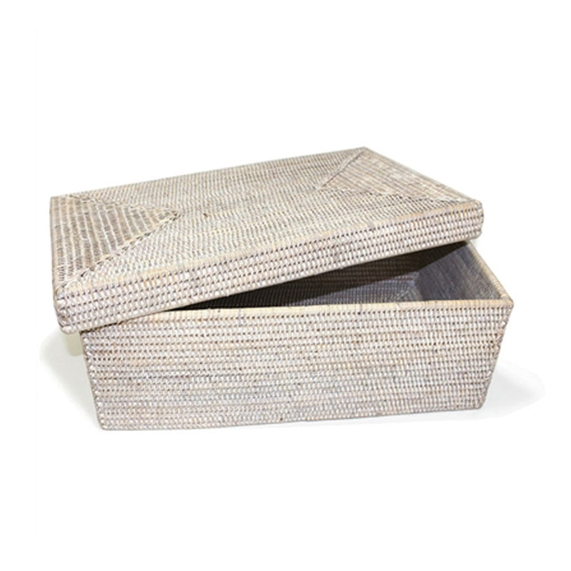 Rattan Storage Basket with Overhanging Lid