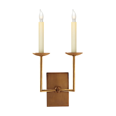 Reed Double Sconce