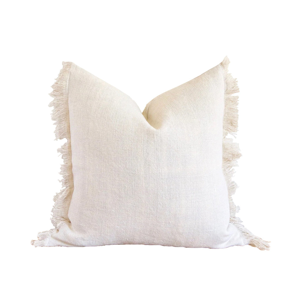 Solid Fringe Pillow Cover