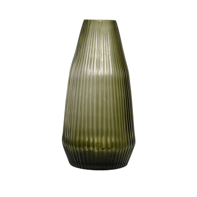 Brian Tunks Cut Glass Vase Conical, Large