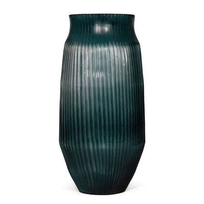 Brian Tunks Cut Glass Vase, Large