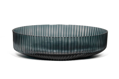 Brian Tunks Cut Glass Bowl, Medium