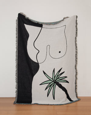 Palm on a Pelvis Blanket