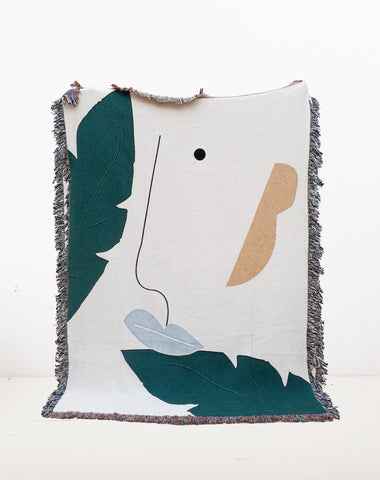 Face in a Forest Blanket