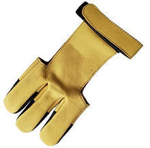Load image into Gallery viewer, Genuine Leather Three Finger Archery Glove