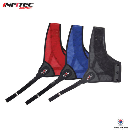Infitec Archery Air-Mesh Double Layered Chest Guard / Black Color