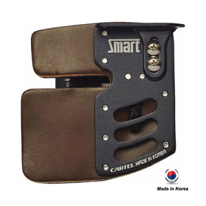 Cartel Smart Anodized Aluminum Plate/Cordovan Leather Finger Tab