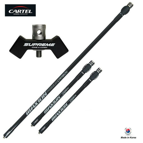 Cartel Archery Maxion Carbon Stabilizer & V-Bar System Kit for Recurve Bow