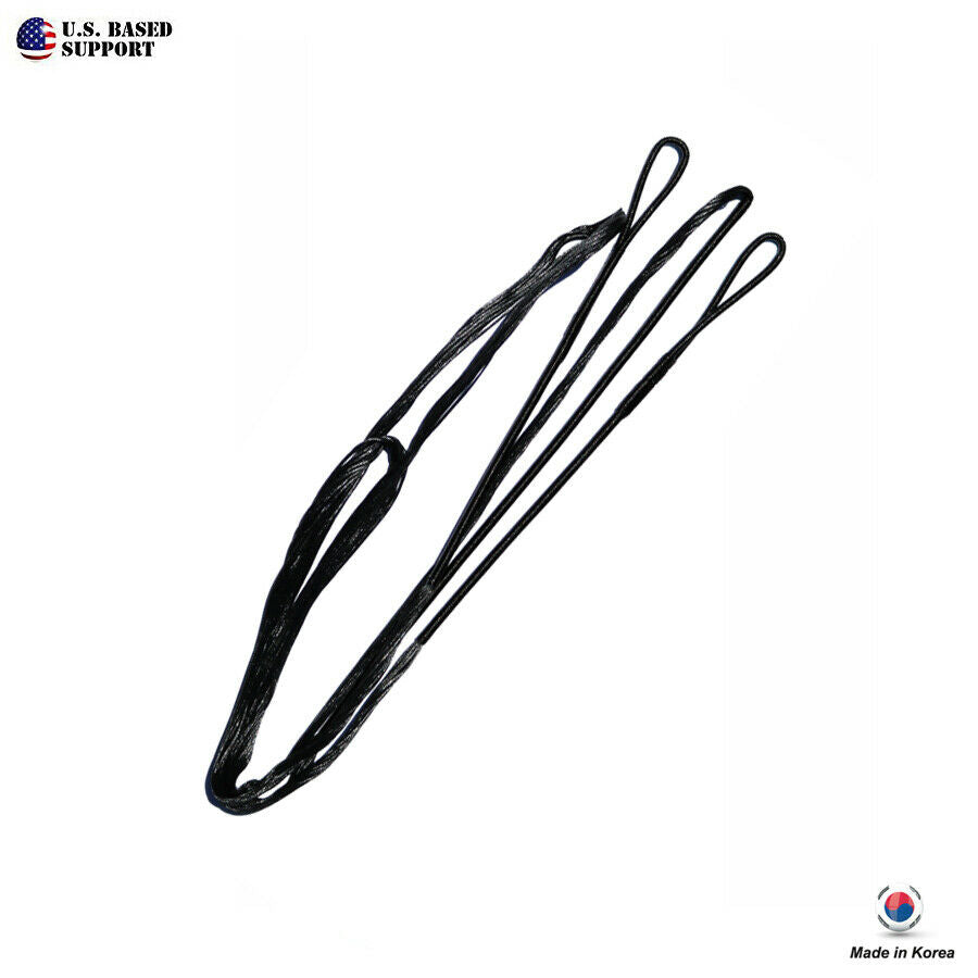 Cartel Korea Made B55 Black Bow String Replacement for Recurve & Traditional Bow