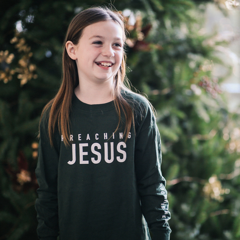 Kids Preaching Jesus Long Sleeve Tee