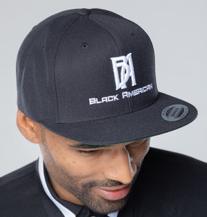 Classic Black Baseball Snap back Hat