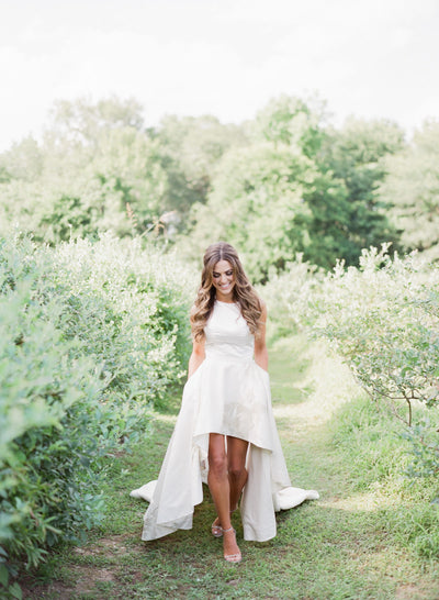 A Custom Two-Piece Dress for a Glam Southern Bride