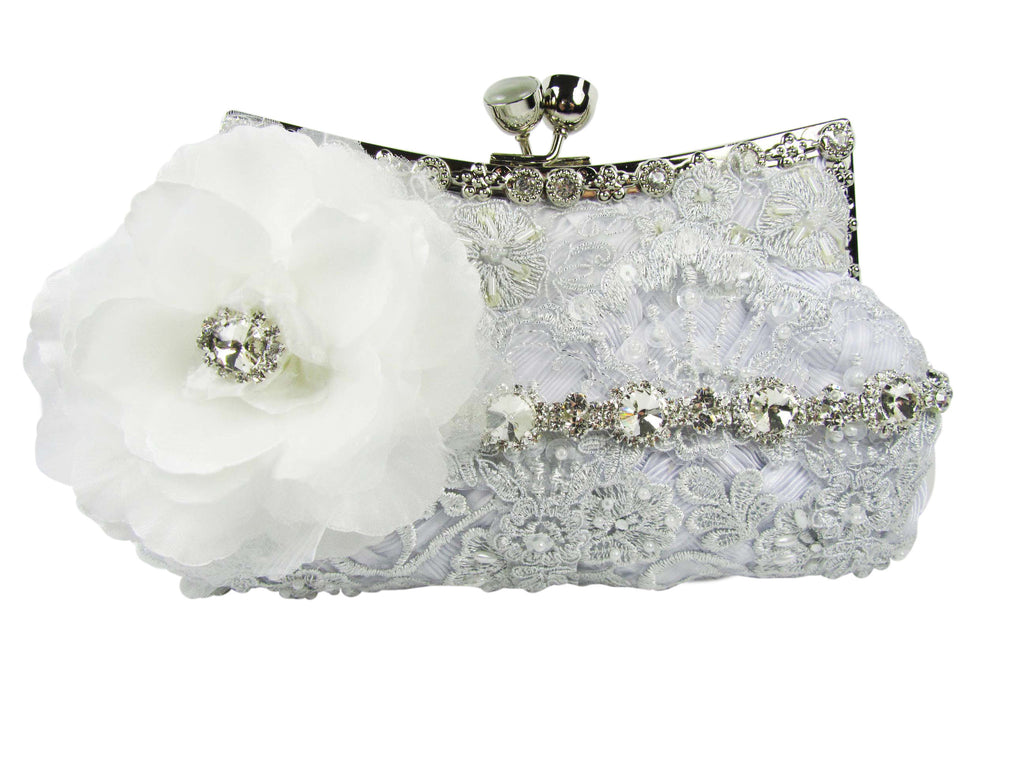 White Bridal Clutch