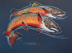 Brook Trout - Print of Pastel Drawing