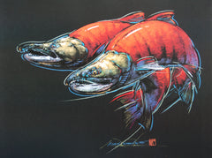Sockeye Salmon – Print of Pastel Drawing
