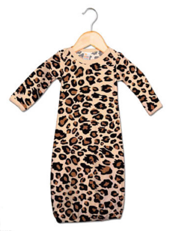 Baby Sleeping Gown Leopard