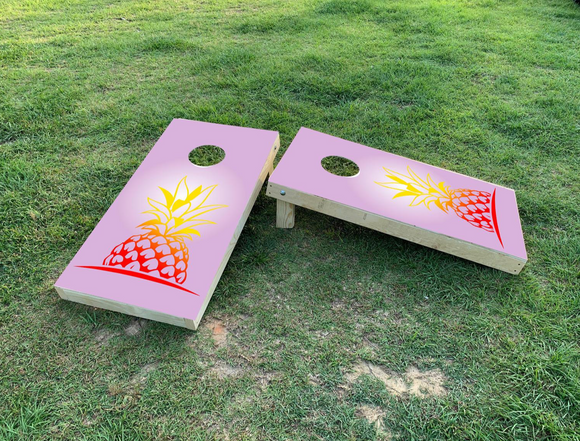 Cornhole Wrap Set Pineapple