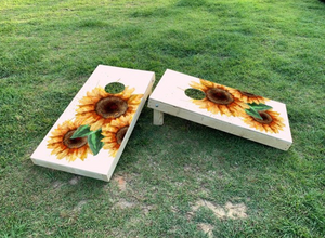 Cornhole Wrap Set Sunflower