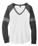 Football Women's Game V-Neck Long Sleeve Adult XS-4XL