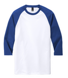 Triblend Unisex Raglan 3/4 Length Tee Adult XS-3XL
