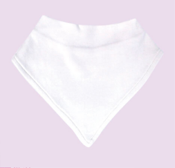 Bandana Bib Sublimation White