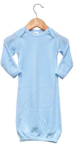 Baby Sleeping Gown w/ Mittens Sublimation Blue