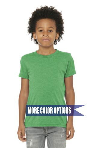 Bella Canvas Triblend Short Sleeve Tee Shirt Youth XS-XL