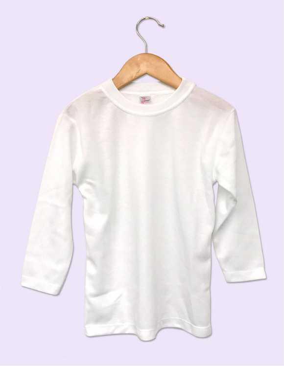 Toddler Sublimation Long Sleeve T Shirt White