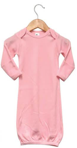 Baby Sleeping Gown w/ Mittens Sublimation Pink