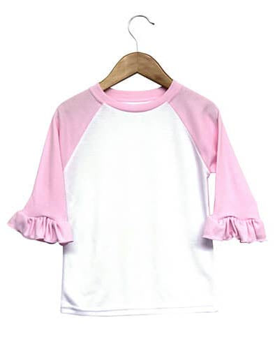 Sublimation Ruffle Raglan Shirt Baby & Toddler