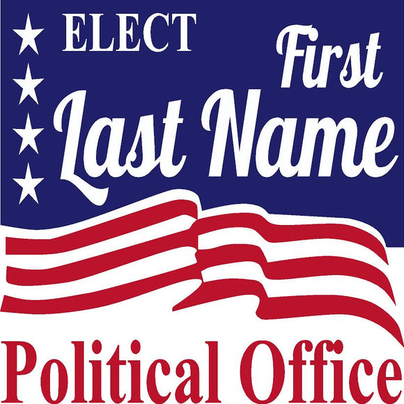 Square Political Sign Design 1