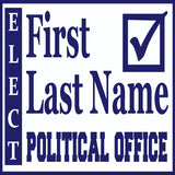 Square Political Sign Design 3