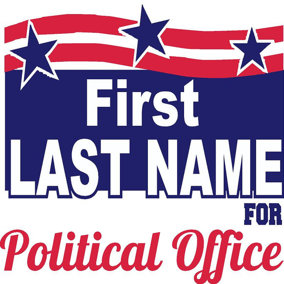 Square Political Sign Design 4