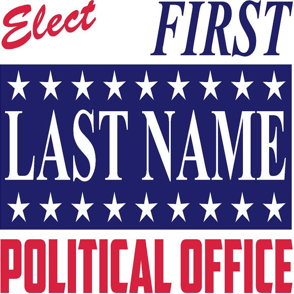 Square Political Sign Design 6