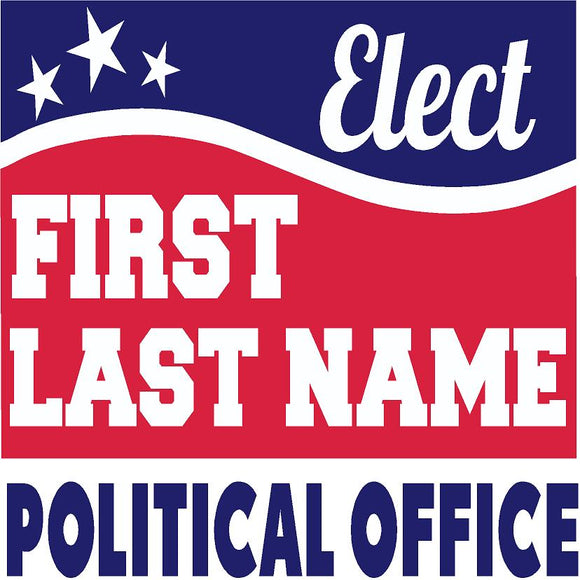 Square Political Sign Design 7