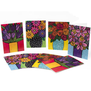 Blank Flower Notecards with Envelopes