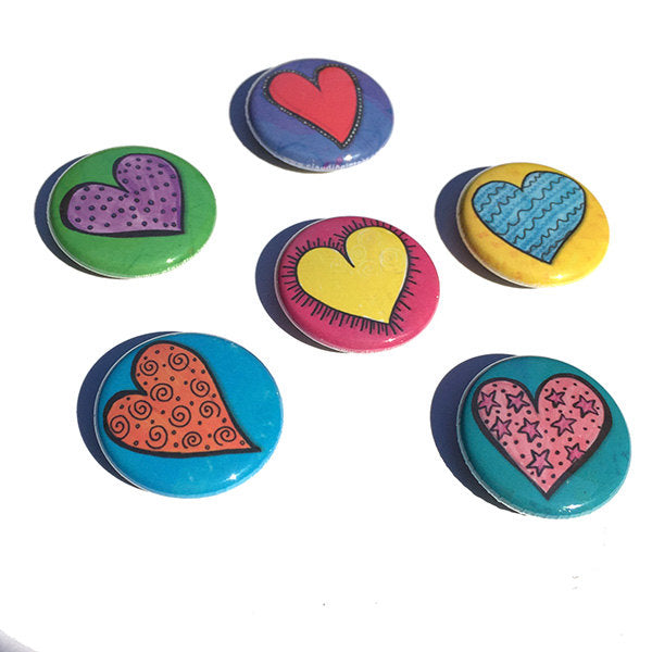 Heart Magnets or Heart Pins