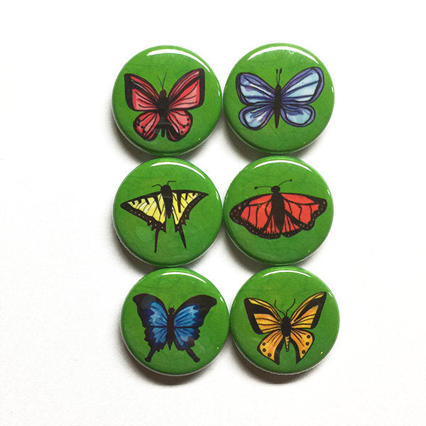Butterfly Magnets or Butterfly Pins Set