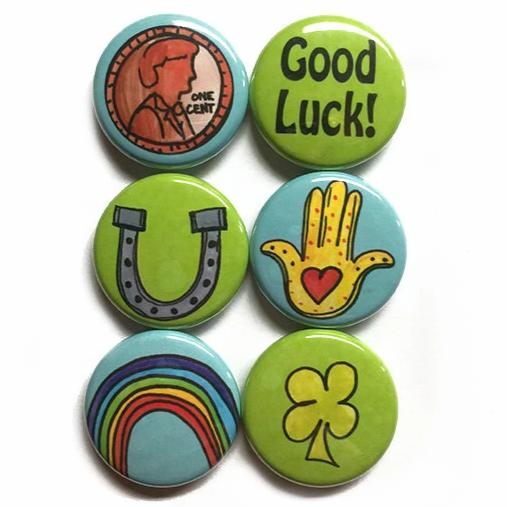 Good Luck Magnet or Pin Set