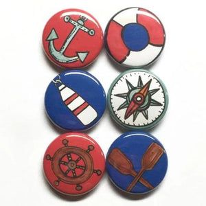 Nautical Magnet or Pin Set