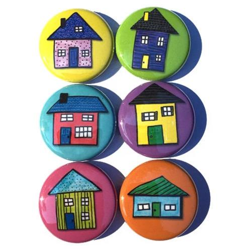 House Magnets or House Pinback Buttons