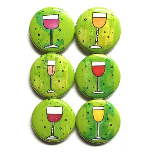 Wine Magnets or Pinback Buttons