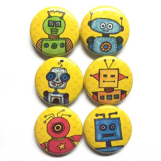 Robot Magnets or Pins