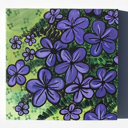 Creeping Phlox Painting - Original Flower Art