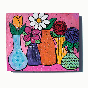 Flower Still Life Painting - Flowers in Vases