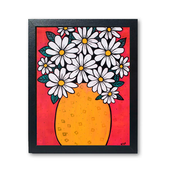 Vase of Daisies Art Print