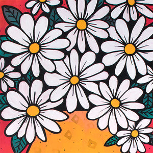 Daisy Painting - Flower Still Life